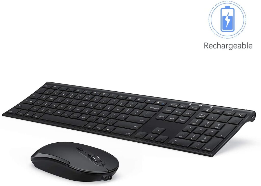 Screenshot showing an angle view on Arteck keyboard which is our number 1 item for best quiet keyboard for typing