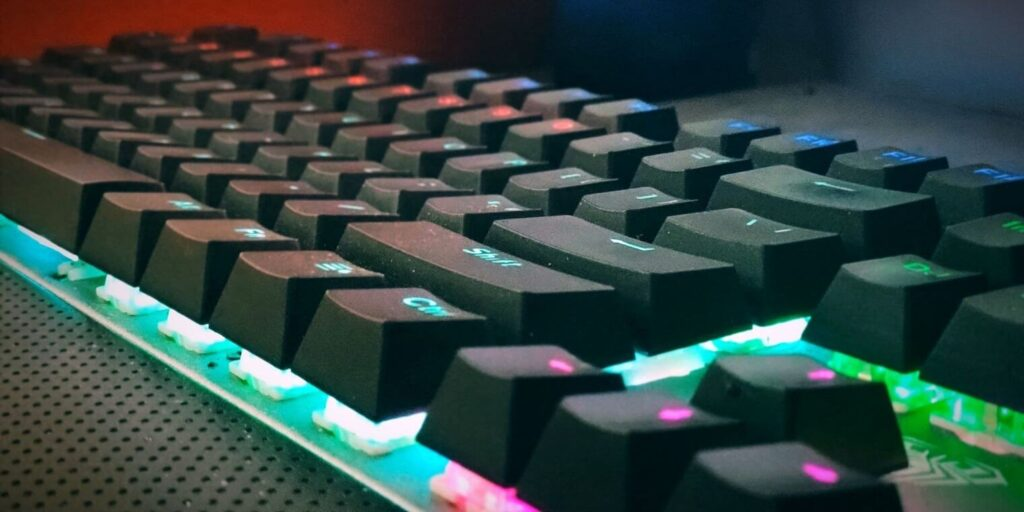 mechanical keyboard, a view from side
