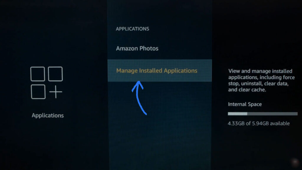 Firetv Manage Installed applications